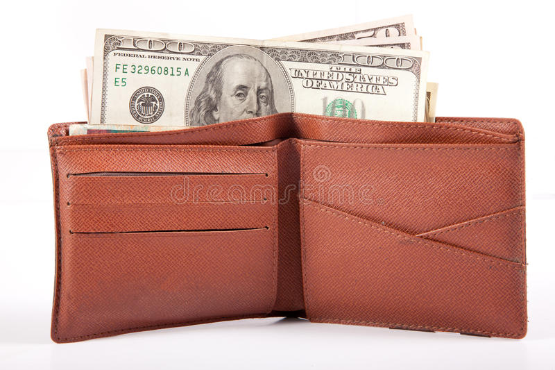 pengarplånbok royaltyfria bilder