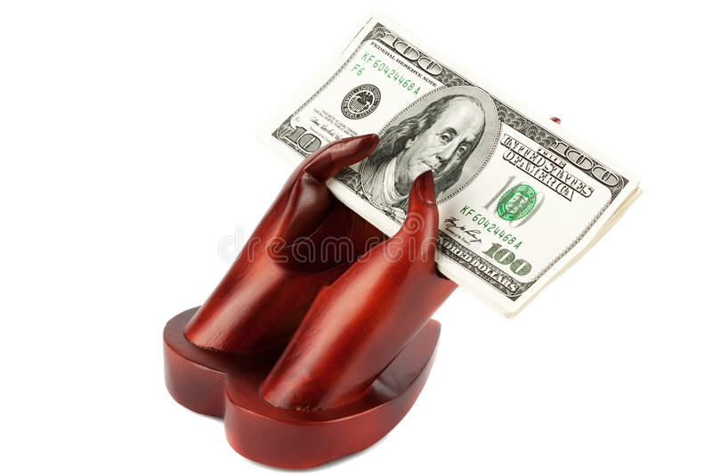 pengarrest arkivbild