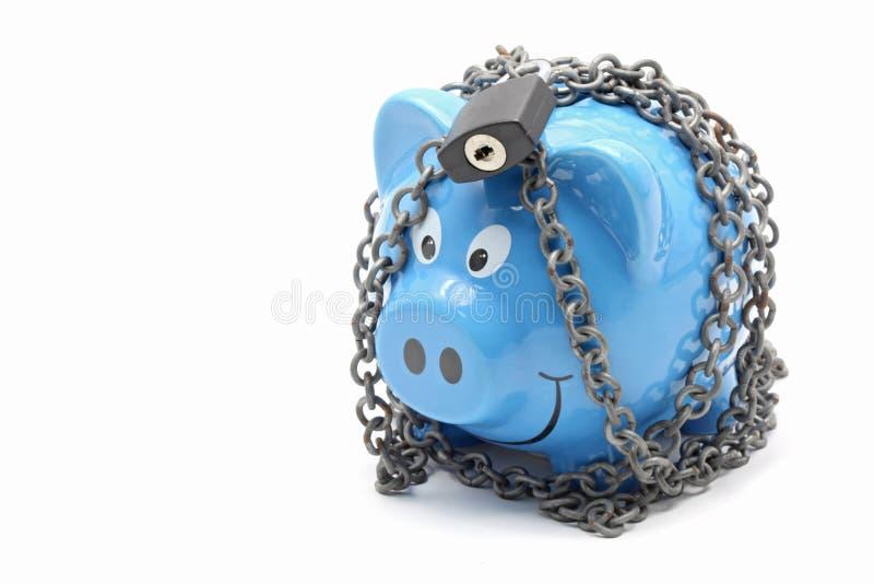 Pengarsparande och försäkring arkivbild