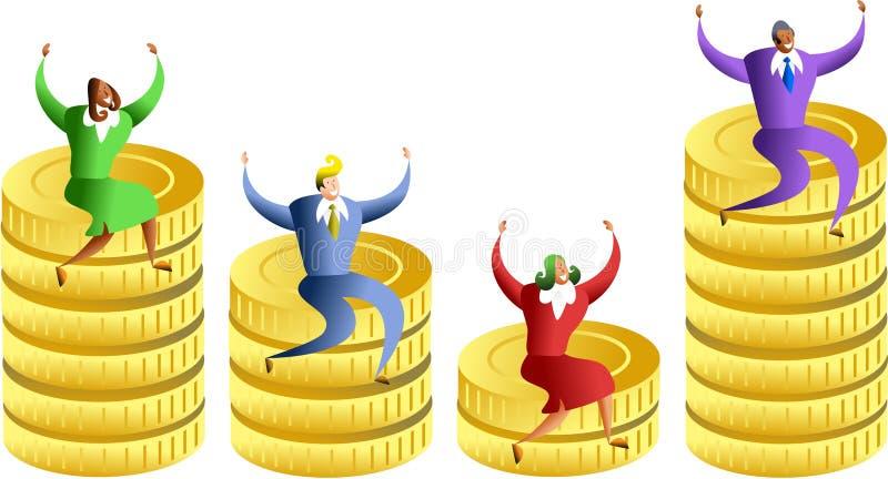 pengarstatistik royaltyfri illustrationer
