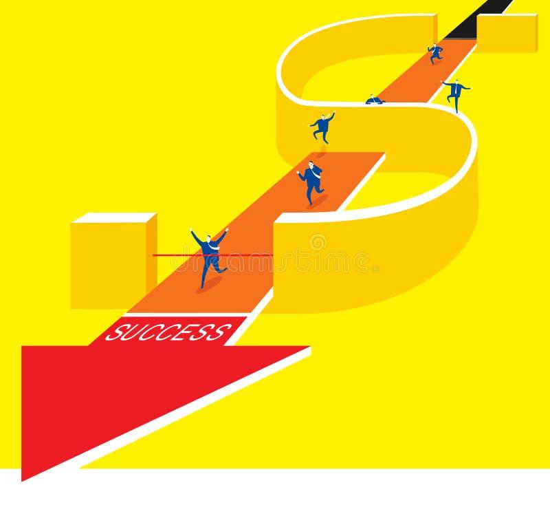 Pengarstrid stock illustrationer