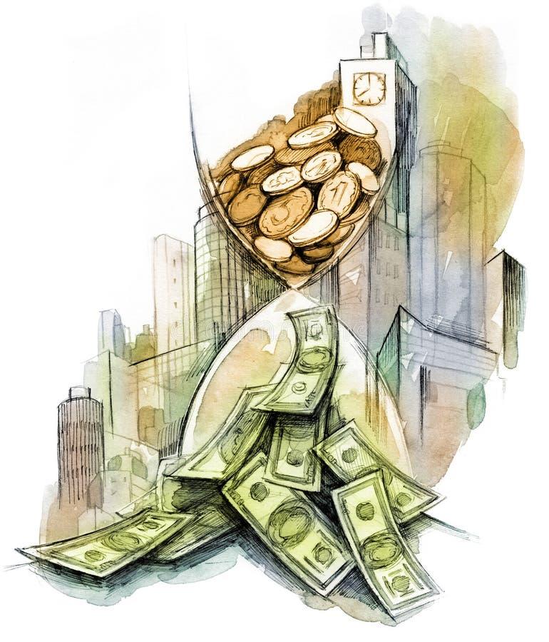 pengartid vektor illustrationer