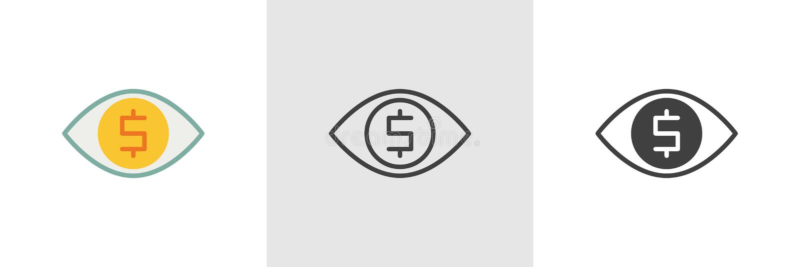 Pengartittaresymbol royaltyfri illustrationer