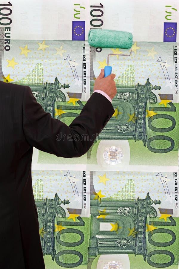 Pengartvångstanke royaltyfri fotografi