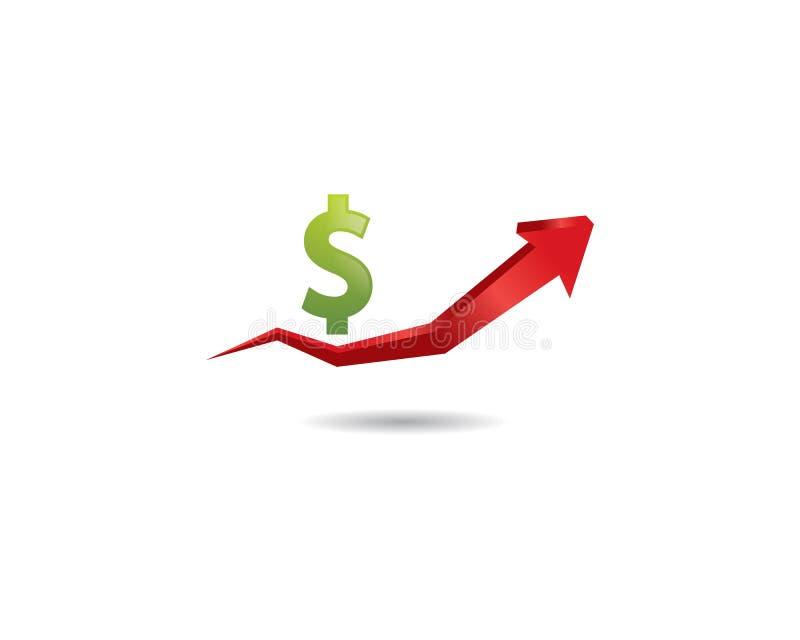 Pengarvektorsymbol royaltyfri illustrationer