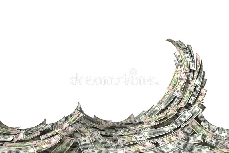 PengarWave royaltyfri illustrationer