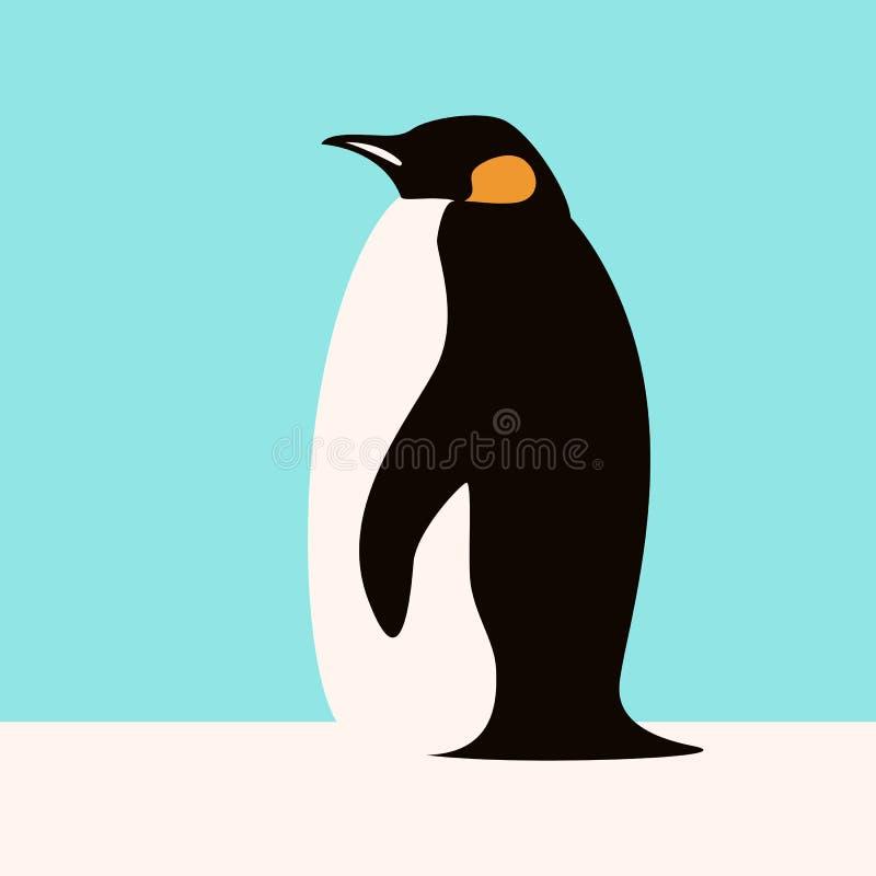 Penguin διανυσματικό σχεδιάγραμμα ύφους απεικόνισης επίπεδο διανυσματική απεικόνιση