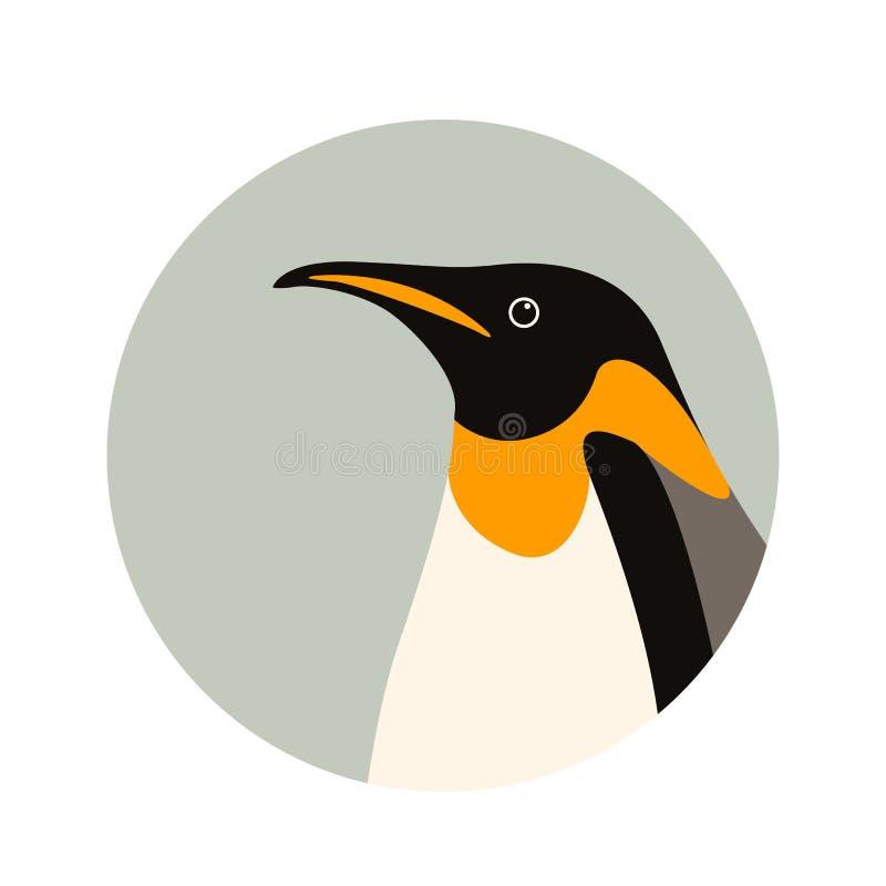 Penguin επίπεδο ύφος απεικόνισης σχεδιαγράμματος δευτερεύον διανυσματικό απεικόνιση αποθεμάτων