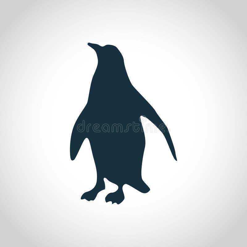 Penguin black silhouette stock illustration