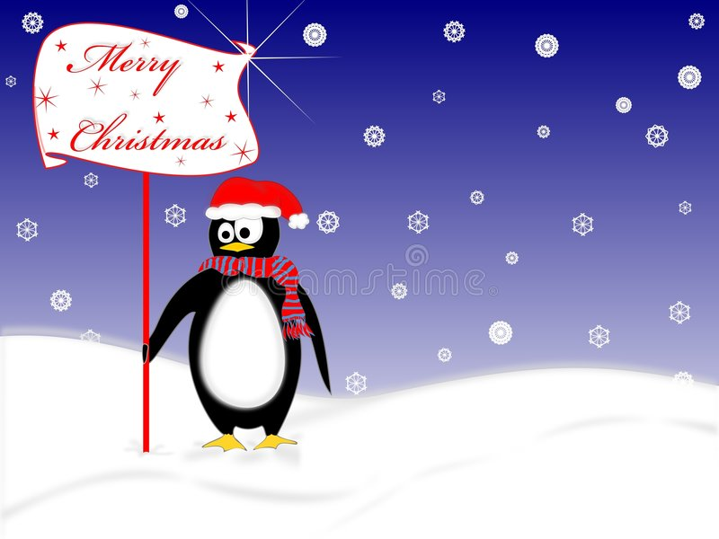 Penguin for christmas royalty free stock photo