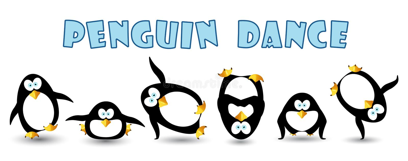 Penguin dance royalty free stock image
