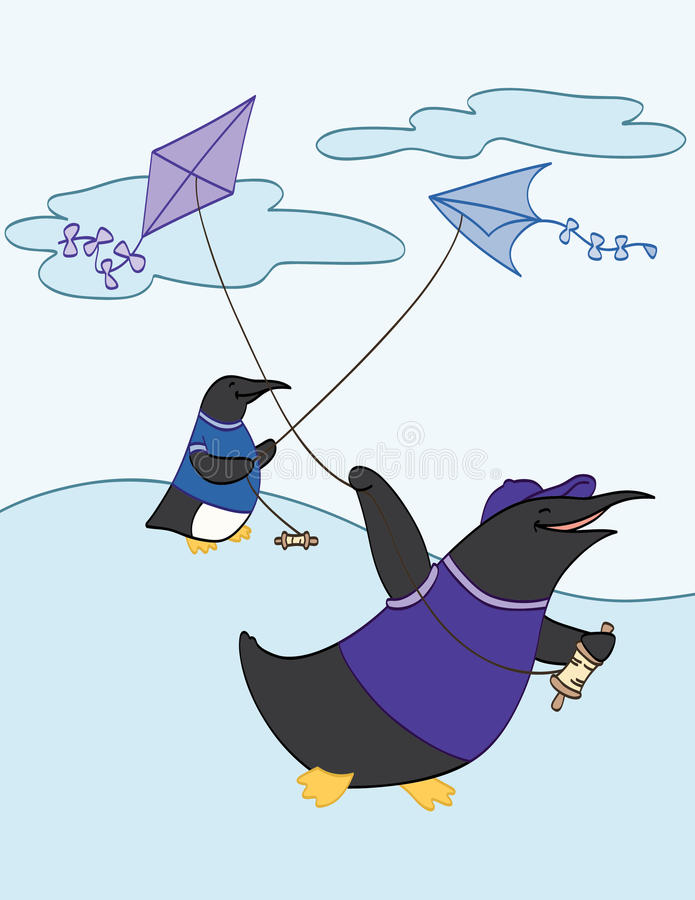 Download Flying Kites stock vector. Image of cartoon, smiling - 29745499