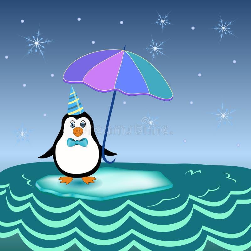 Penguin on iceberg royalty free stock photography