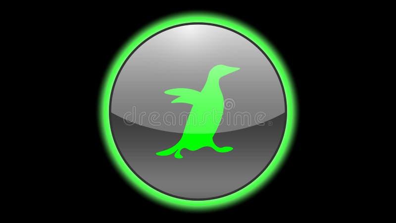 Penguin icon vector design. Green neon icons with animals. Animals icons vector vector illustration
