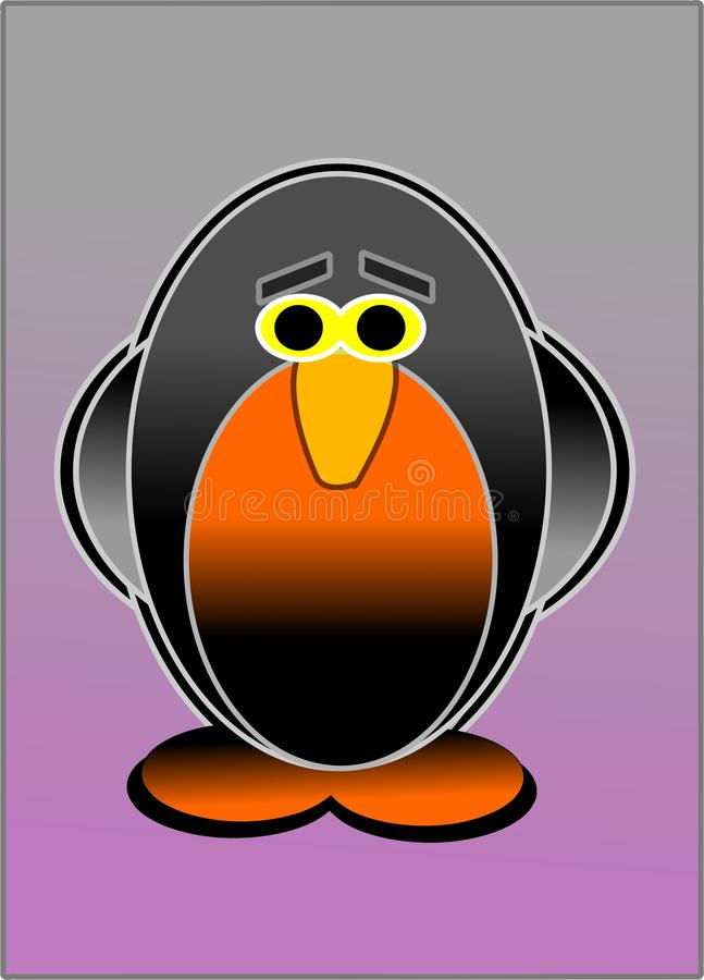 A cute little penguin royalty free stock photo