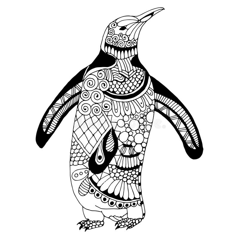 Penguin illustration stock illustration