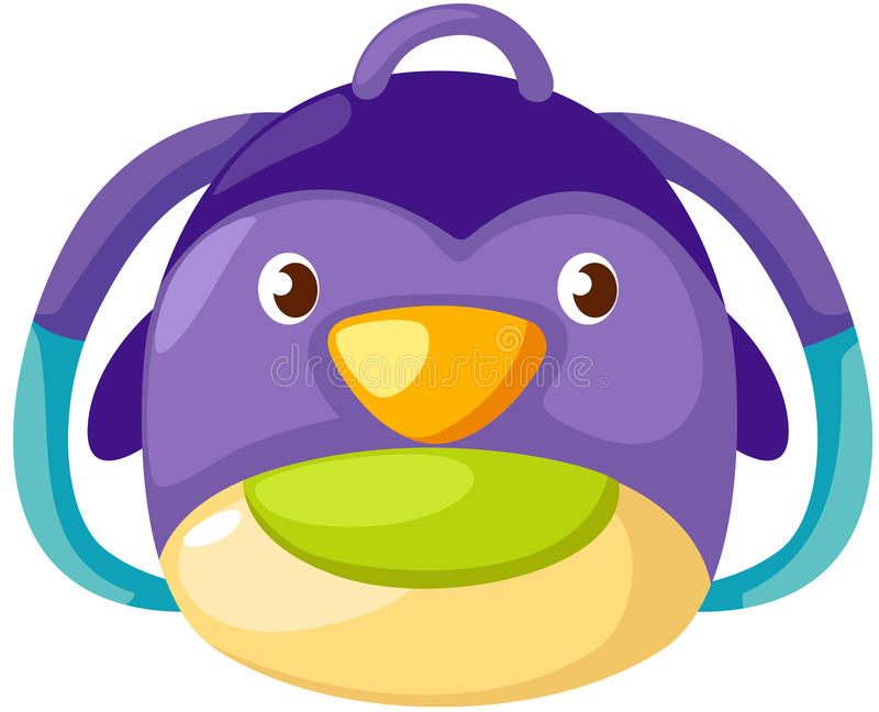 Penguin kid bag stock illustration