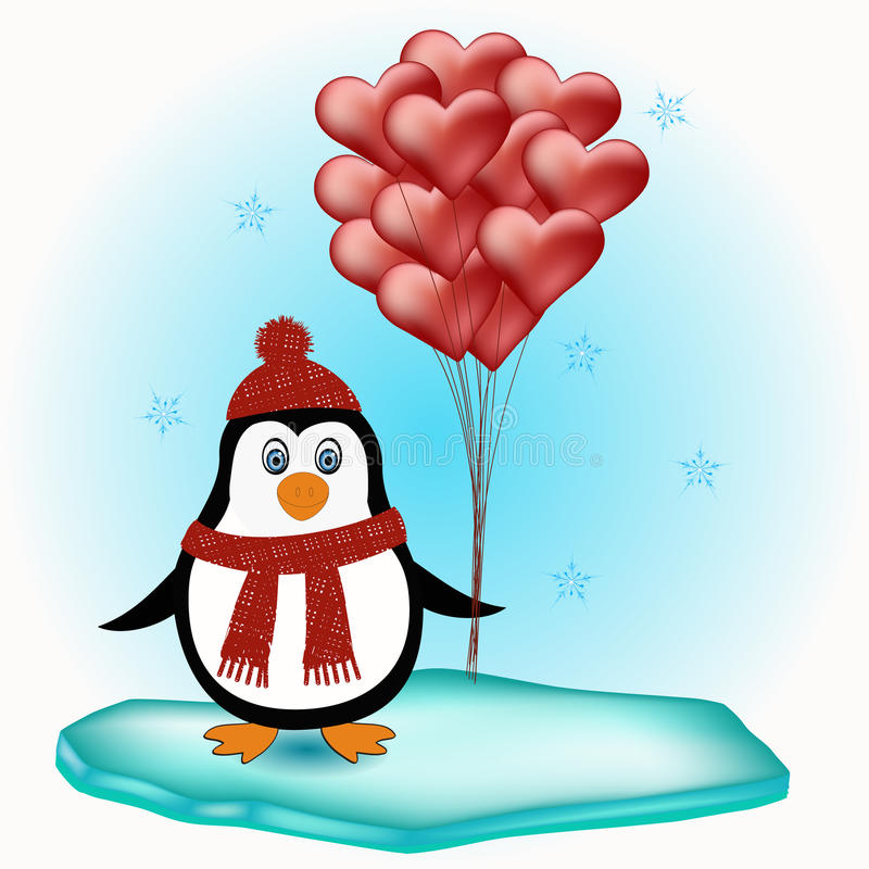 Penguin love concept royalty free stock image