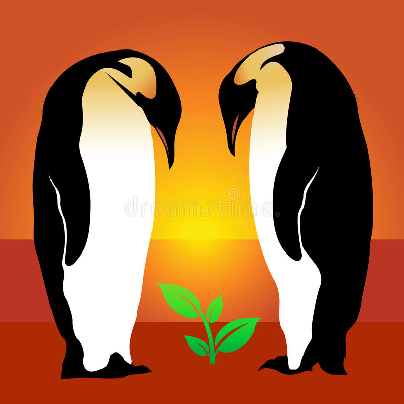 Download Penguin. Plant Royalty Free Stock Images - Image: 23046489