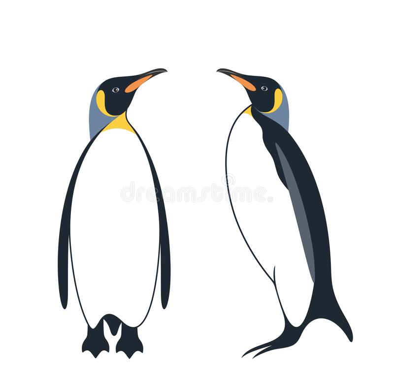 penguin Re Penguin royalty illustrazione gratis