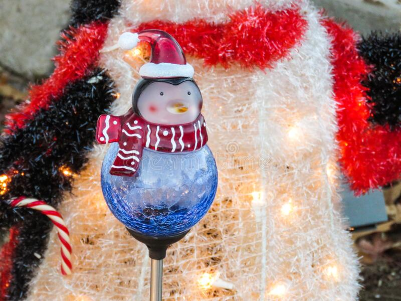 Download Penguin Snowman Christmas Decoration Stock Photo - Image of candycane, snowman: 86217372
