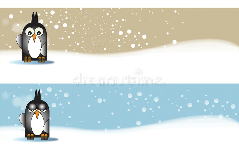 Download Penguine themed Banners stock illustration. Image of penguin - 15726634