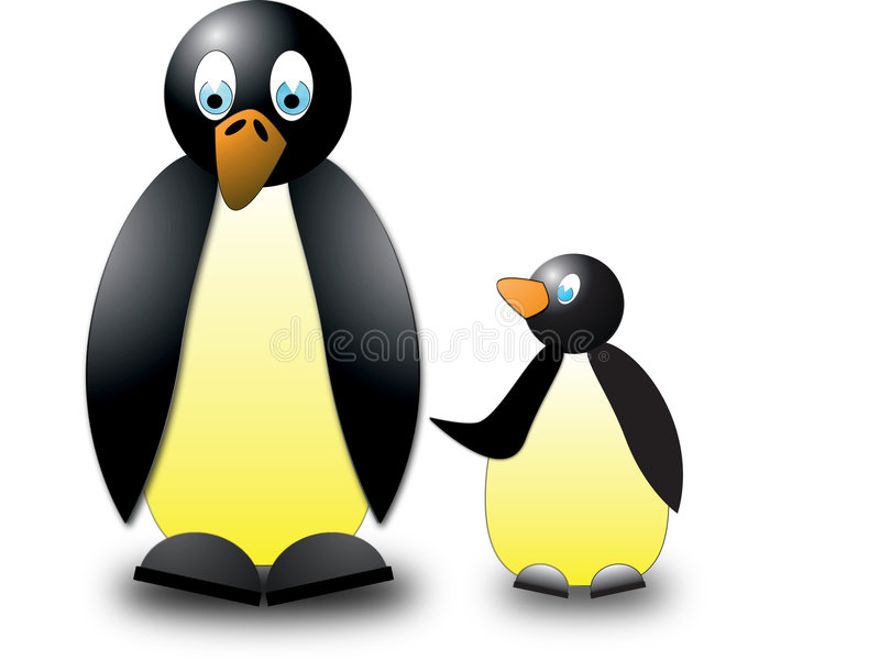 Download Penguins stock illustration. Illustration of emperor, rockhopper - 4862967