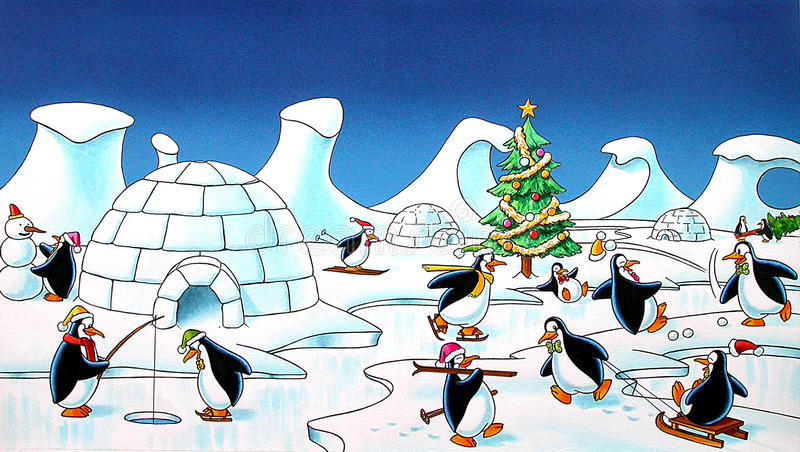 penguins fotografia stock