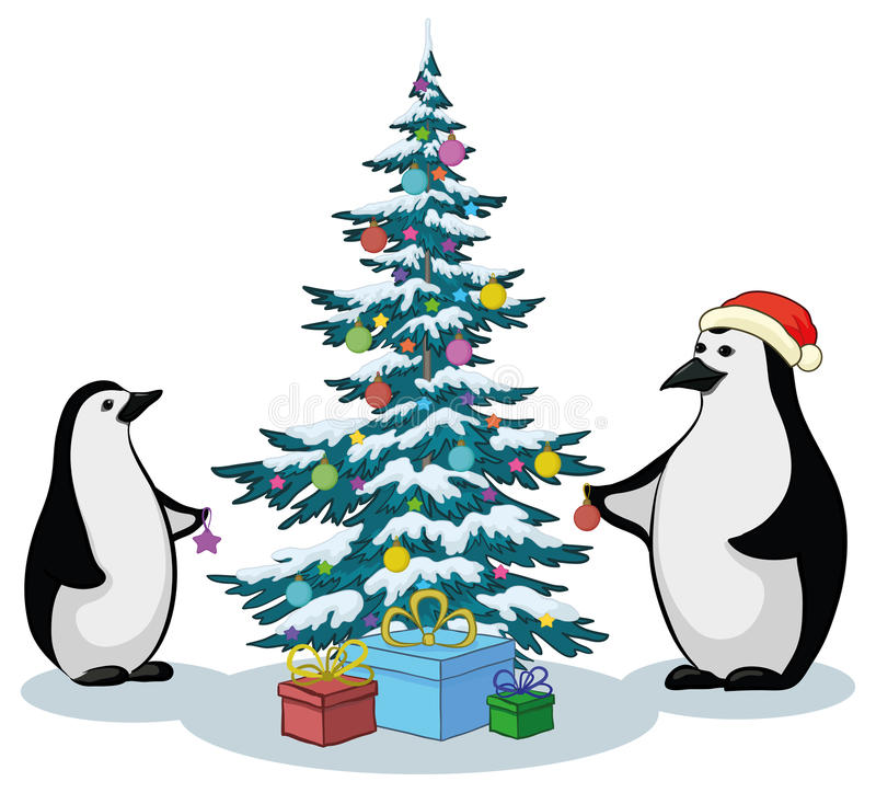 Download Penguins And Christmas Tree Stock Photo - Image: 21679050