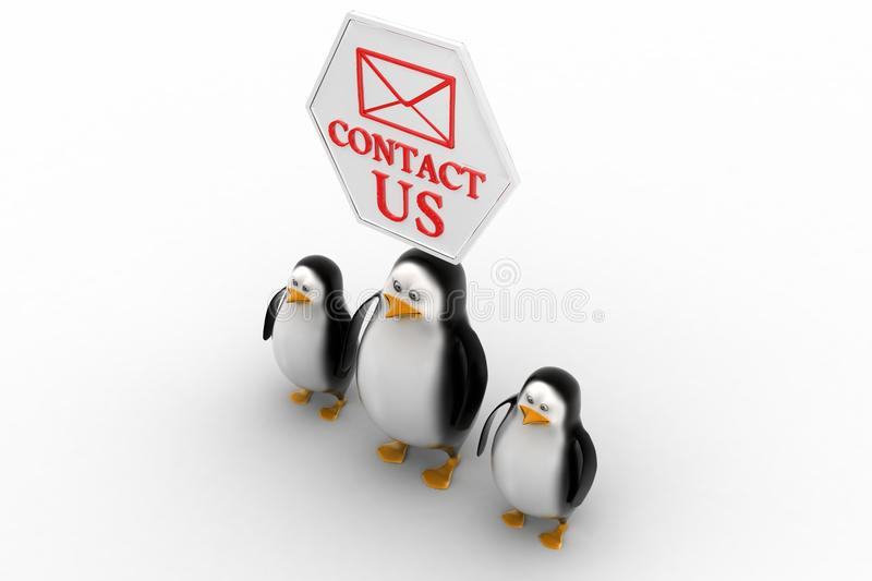 Download Penguins With Contact Us Concept Stock Illustration - Image: 40465844