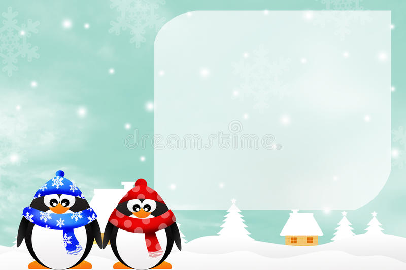 Download Penguins stock illustration. Image of family, birds, tree - 34433446