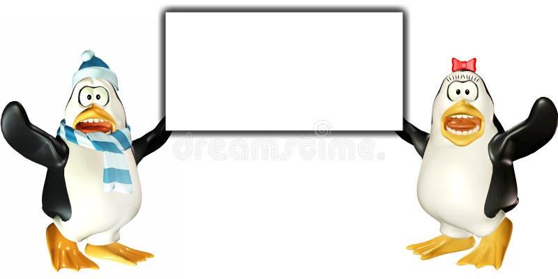 Download Penguins Sign 3 - Surprised Stock Illustration - Illustration: 3328081