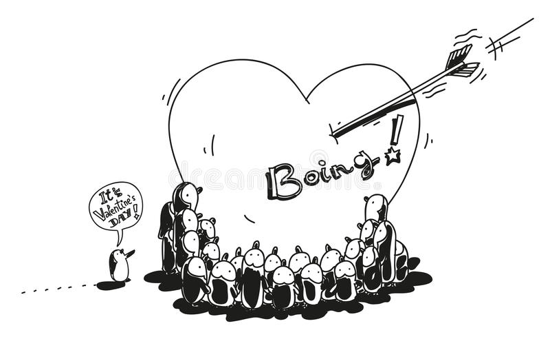 Download Penguins valentine stock vector. Illustration of character - 28986676