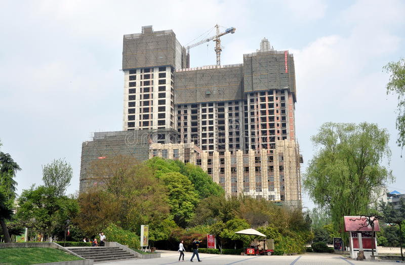Download Pengzhou, China: Construction Of Luxury Apartments Editorial Image - Image: 24286695