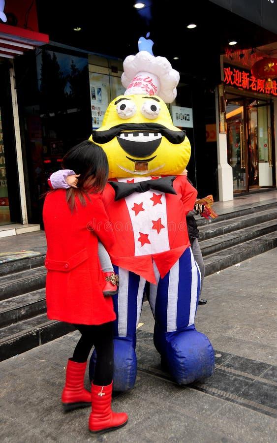 Pengzhou, China: Cozinheiro chefe da promoção do restaurante imagem de stock royalty free