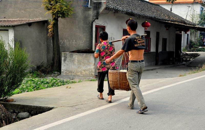 Download Pengzhou, China: Farmers Crossing Road Editorial Image - Image: 34383245