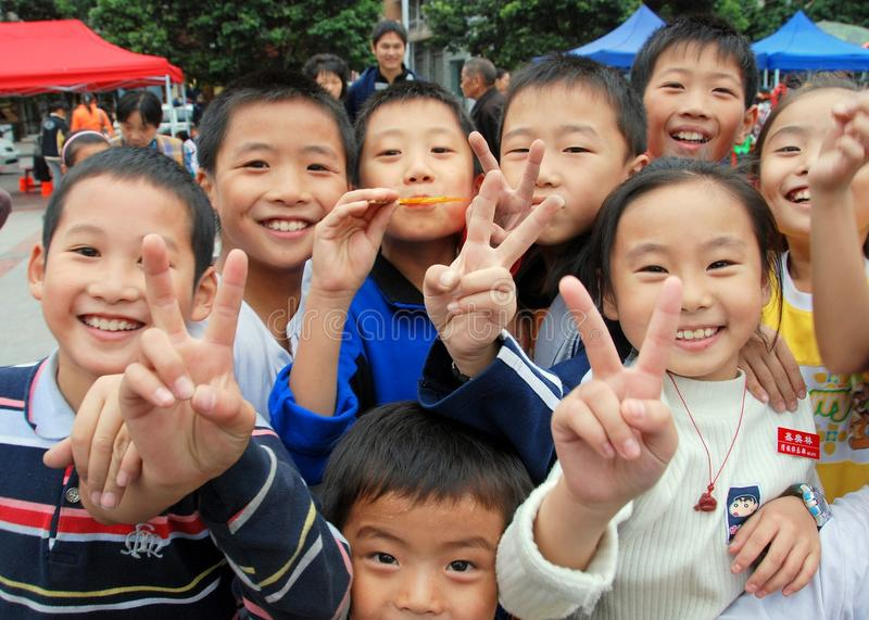 Download Pengzhou, China: Happy Children In New Square Editorial Stock Photo - Image: 15089533