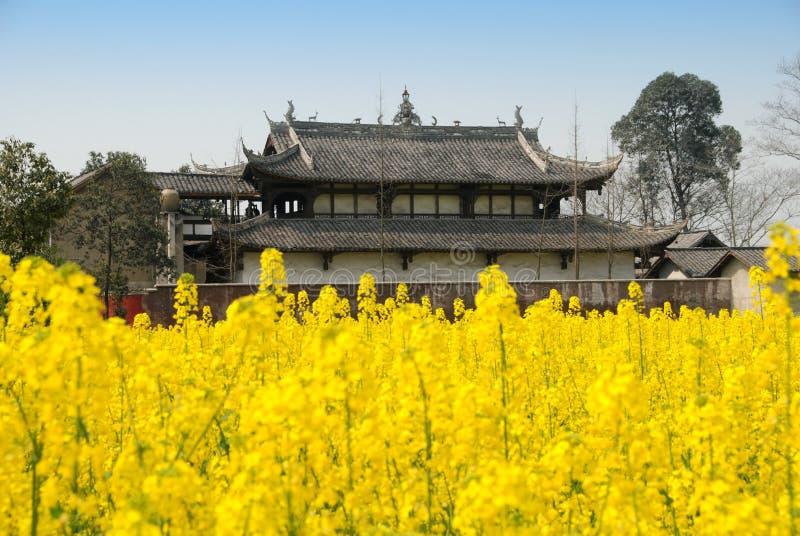 Pengzhou, China: Jing Tu buddhistischer Tempel stockfotografie