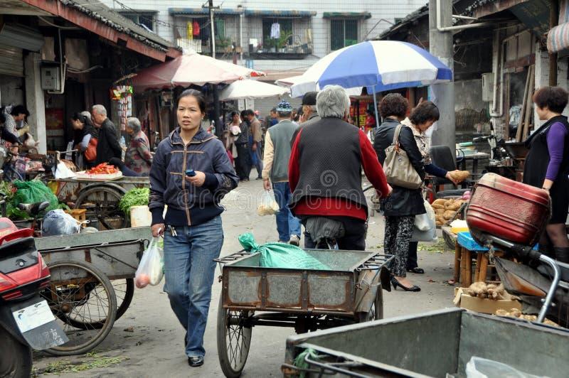 Download Pengzhou, China: Long Xing Marketplace Editorial Photography - Image: 21376357