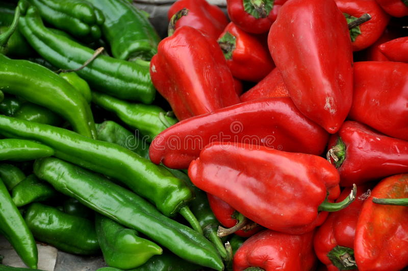 Download Pengzhou, China: Red And Green Peppers Stock Photo - Image: 12031420