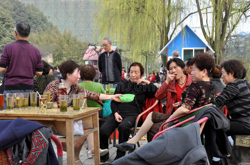 Download Pengzhou, China: Sipping Tea In Park Editorial Stock Photo - Image: 23912213