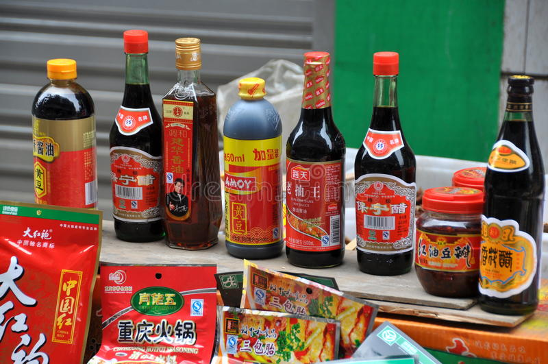 Pengzhou, China: Soy Sauces stock images