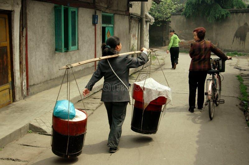 Download Pengzhou, China: Women On Hua Lu Editorial Photography - Image: 15051842
