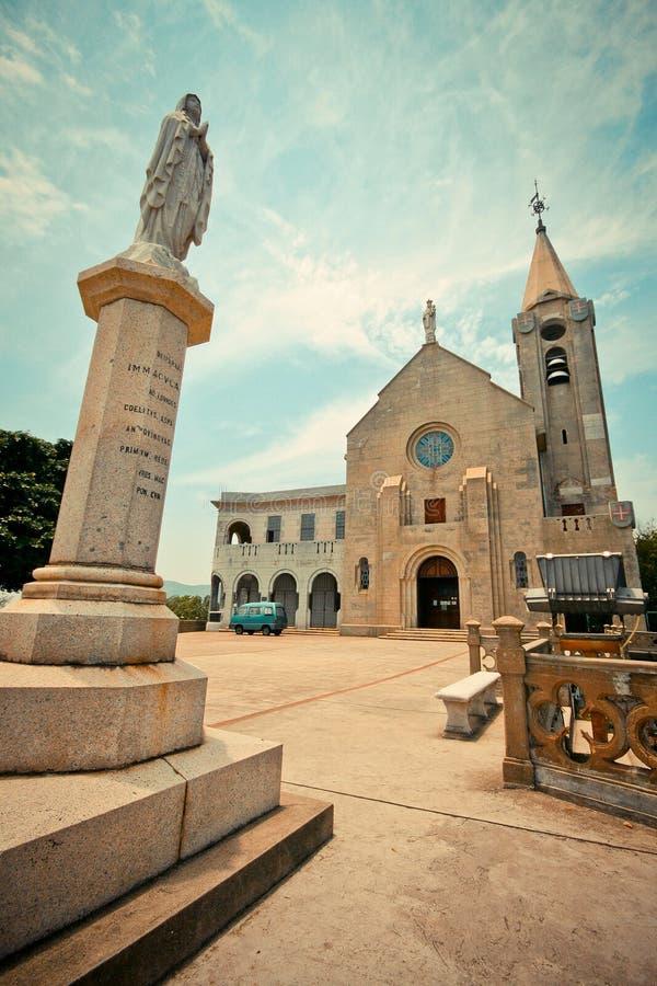 Penha Church in Macau stock images
