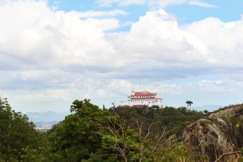 Penha klasztor, Vila Velha, Espirito Santo, b (Convento da Penha) fotografia stock
