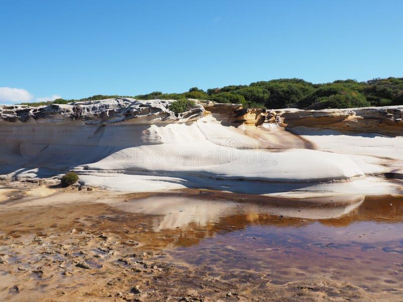Penhasco da rocha da areia em Austrália fotografia de stock royalty free