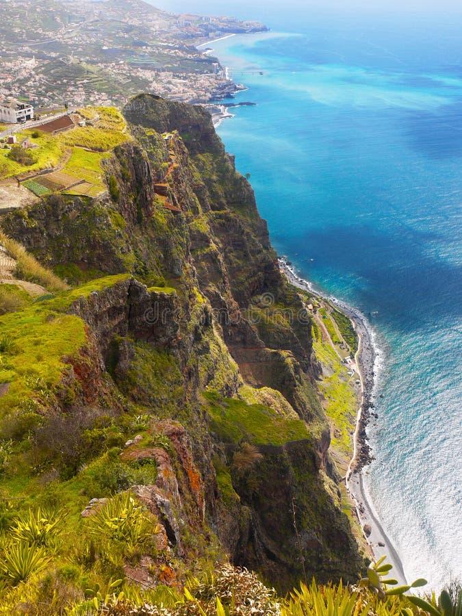 Penhasco de Cabo Girao, ilha de Madeira, Portugal foto de stock