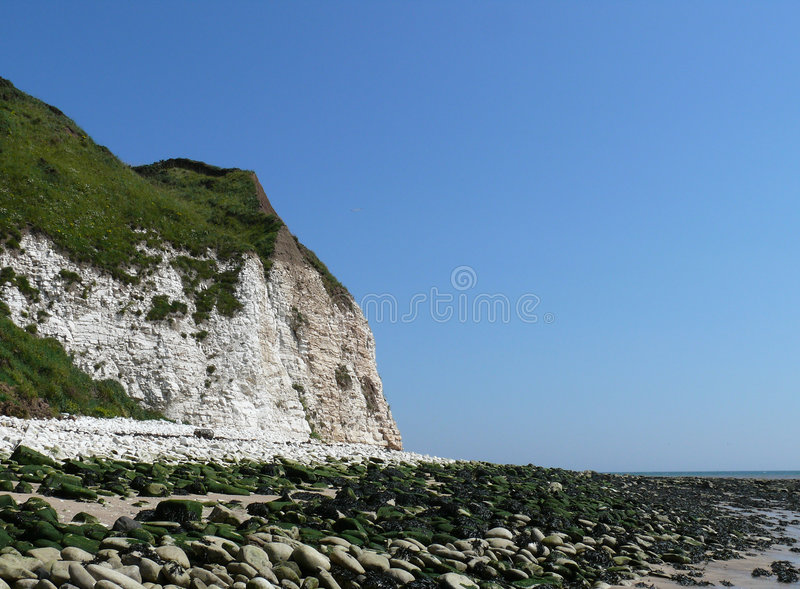 Penhasco de Flamborough fotografia de stock