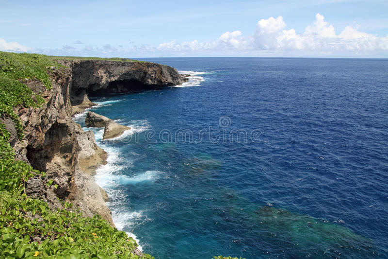 Penhasco do Banzai em Saipan foto de stock royalty free