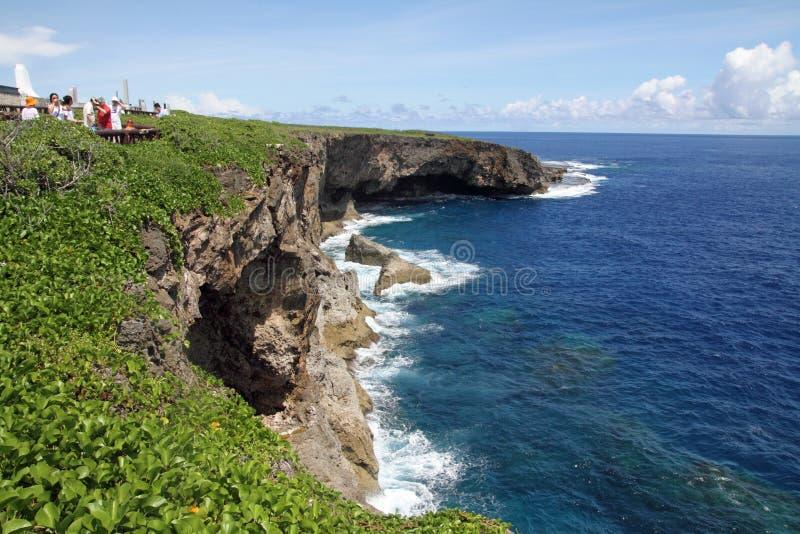 Penhasco do Banzai em Saipan fotografia de stock